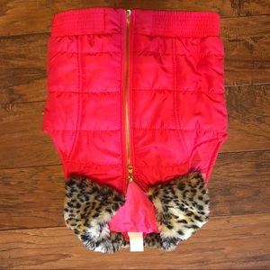 Other - Back to school!  Pink puffy vest sz S